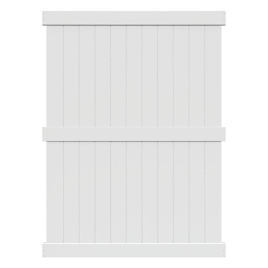 Freedom Ready-to-Assemble Bolton White Vinyl Privacy Fence Panel (Common: 6-ft x 8-ft; Actual: 5.58-ft x 7.83-ft)