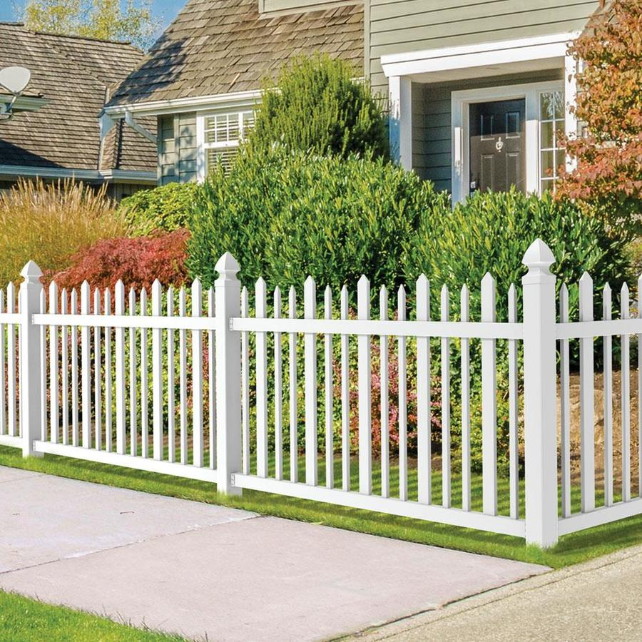 Freedom Pre-Assembled Ashford White Vinyl Fence Panel (Common: 8-ft x 4-ft; Actual: 7.63-ft x 3.83-ft)