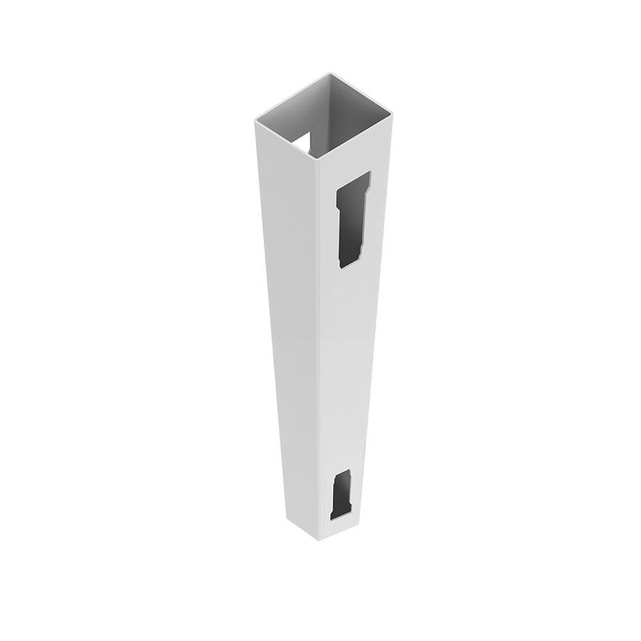 Freedom Ready-to-Assemble White Vinyl Fence Line Post (Common: 5-in x 5-in x 9-ft; Actual: 5-in x 5-in x 9-ft)