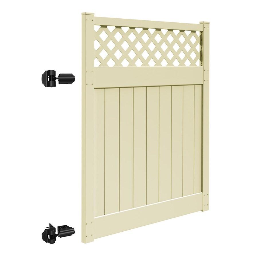 Shop Freedom Bradford Sand Vinyl Semi Privacy Fence Gate