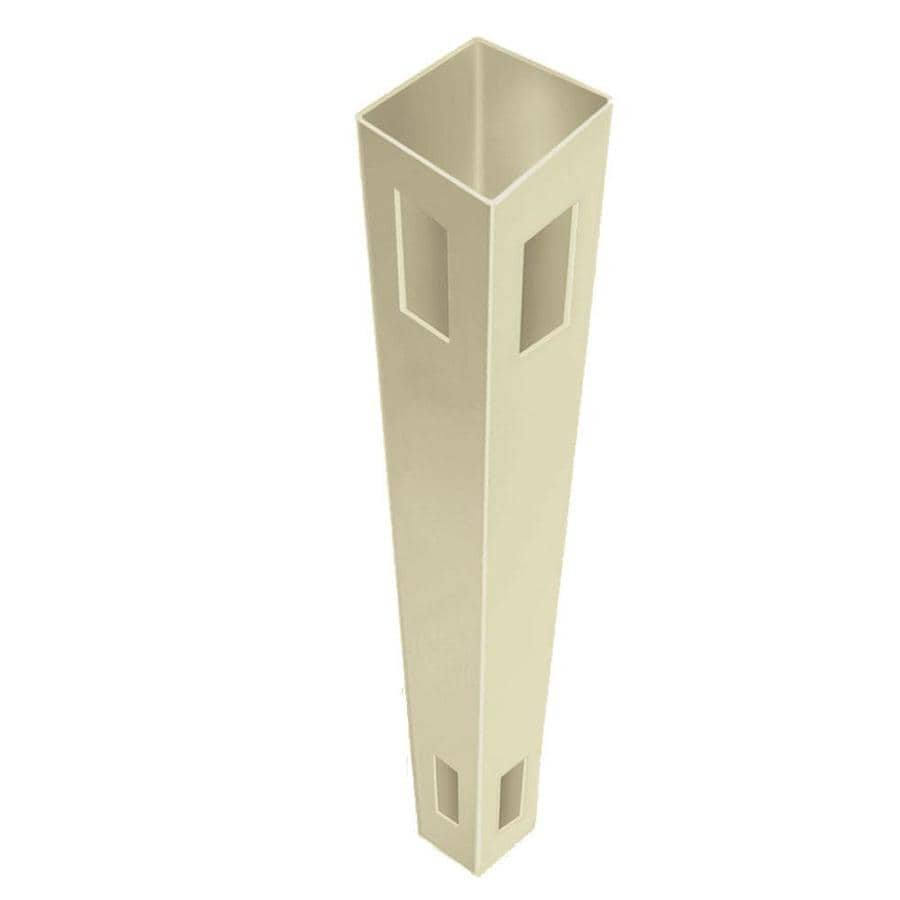 Freedom Ready-to-Assemble Sand Vinyl Fence Corner Post (Common: 5-in x 5-in x 9-ft; Actual: 5-in x 5-in x 9-ft)