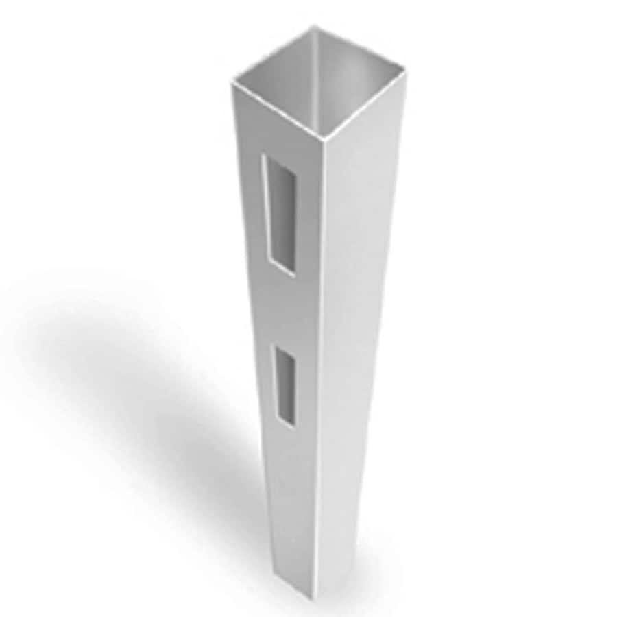 Freedom Ready-To-Assemble White Vinyl Fence End Post (Common: 4-3/4-in x 4-3/4-in x 6-ft; Actual: 4.75-in x 4.75-in x 5.66-ft)