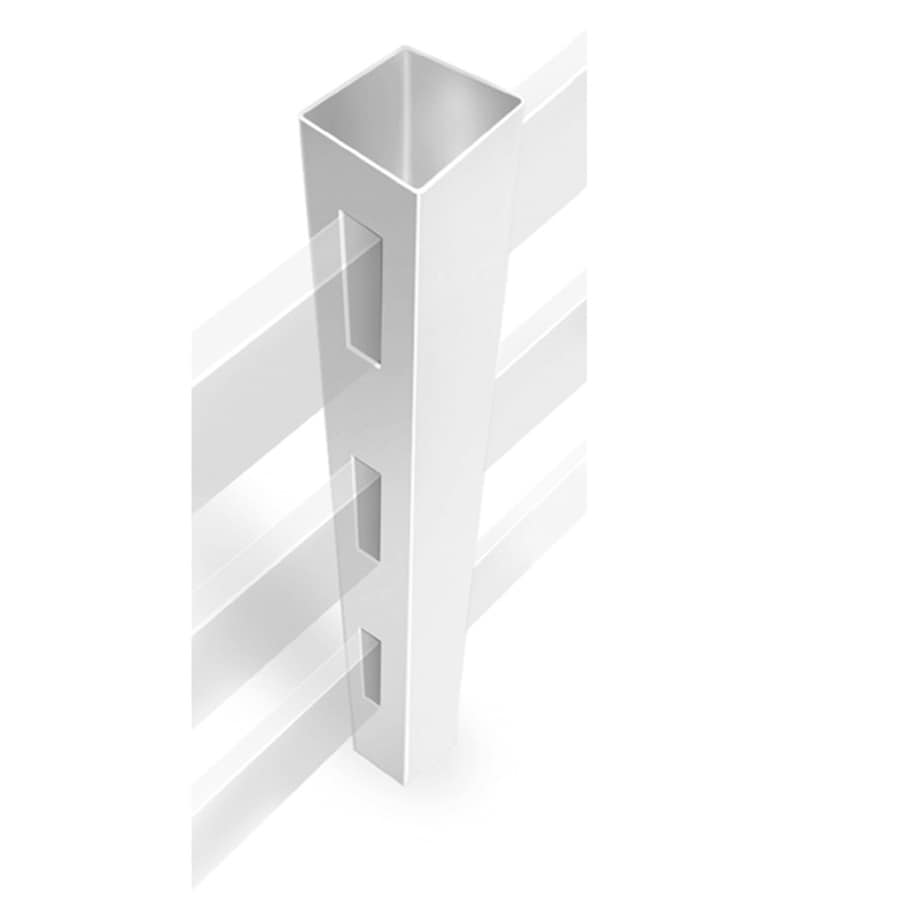 Freedom Ready-To-Assemble White Vinyl Fence Line Post (Common: 4-3/4-in x 4-3/4-in x 7-ft; Actual: 4.75-in x 4.75-in x 7-ft)
