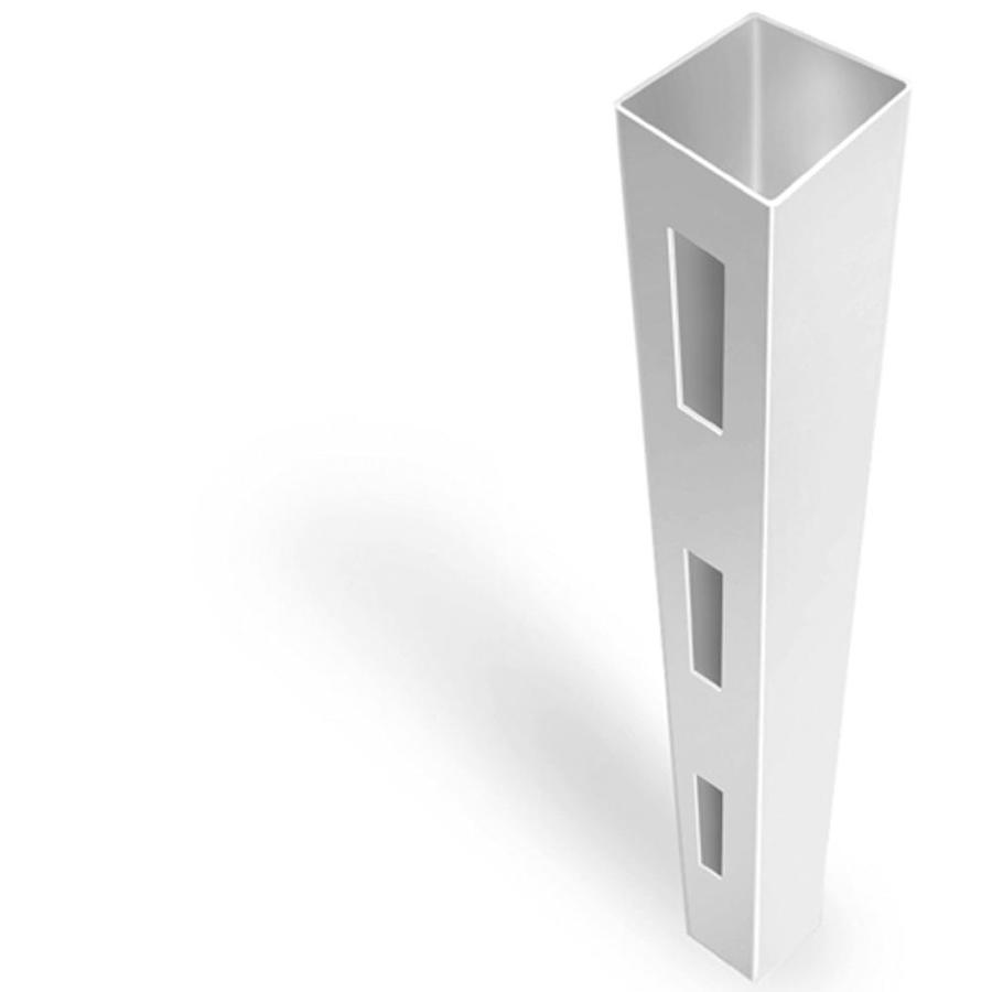 Freedom Ready-To-Assemble White Vinyl Fence End Post (Common: 4-3/4-in x 4-3/4-in x 7-ft; Actual: 4.75-in x 4.75-in x 7-ft)