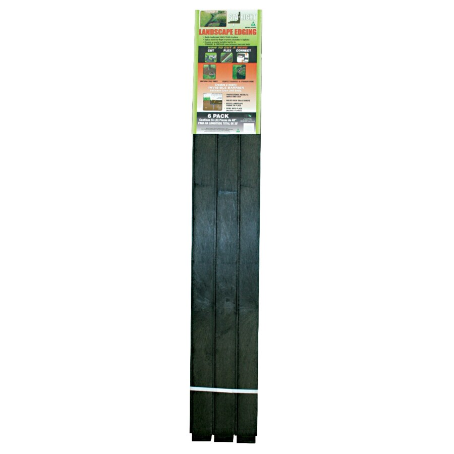 Sta-Right 6-Pack 40-in Plastic Flexible Patio Stone and Paver Restraints with Spikes