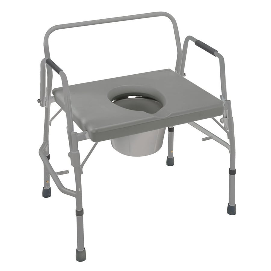 Shop DMI 23-in 7-Quart Adjustable Bedside Commode at Lowes.com