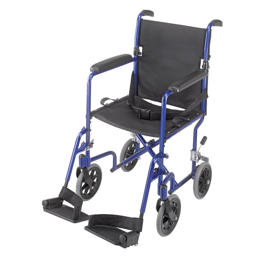 DMI Blue Fold-Up/Easy Storage Transport Chair
