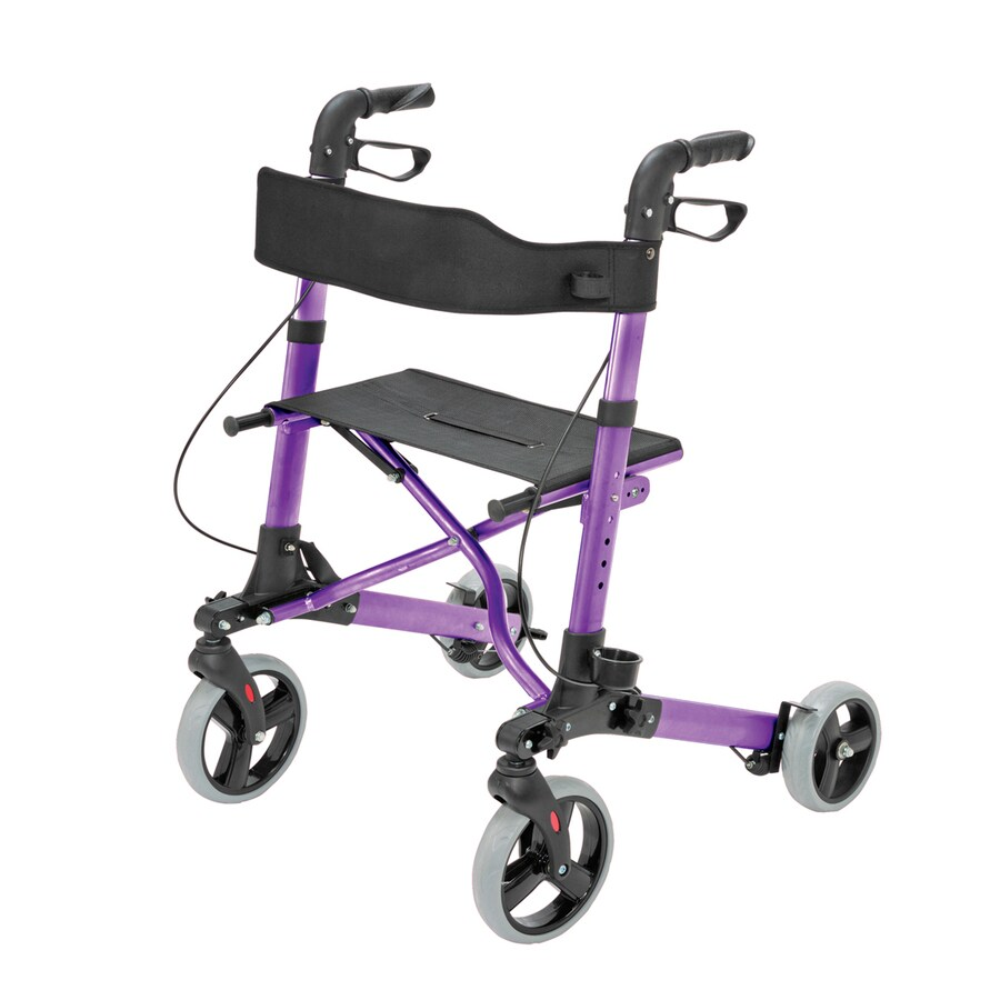 HealthSmart Purple Fold-Up/Easy Storage Rollator