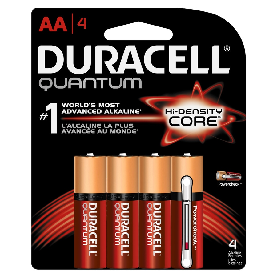 Duracell 4-Pack AA Alkaline Batteries