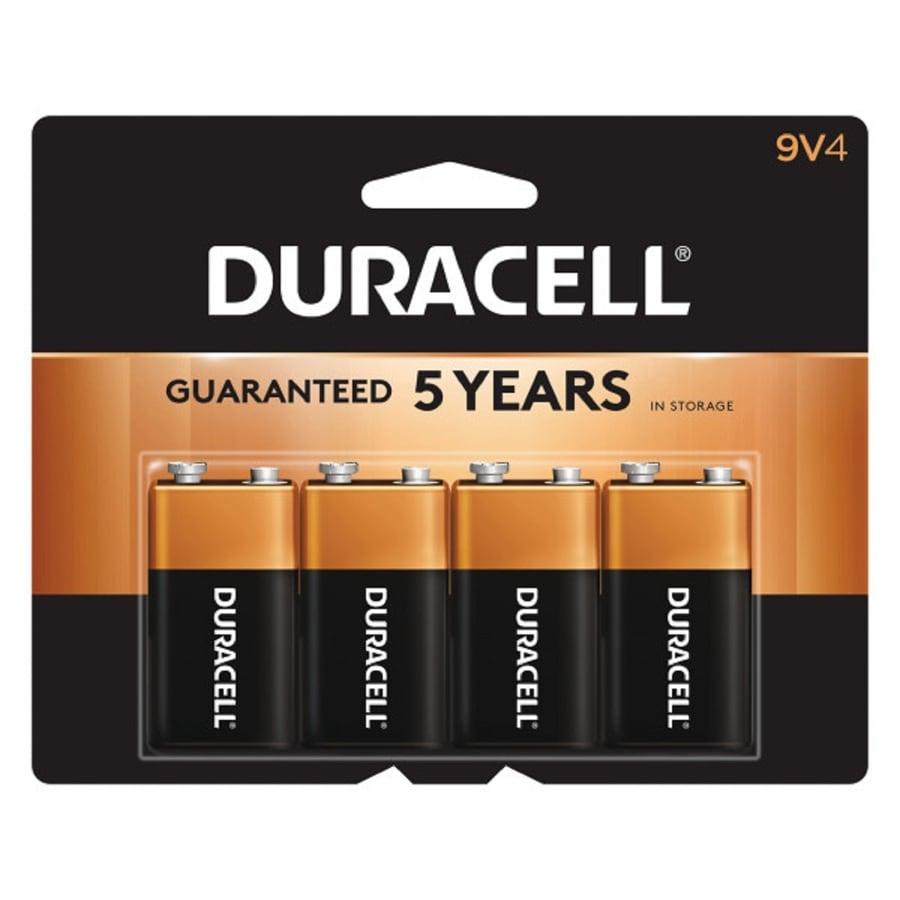 Duracell 4-Pack PP3 (9V) Alkaline Batteries