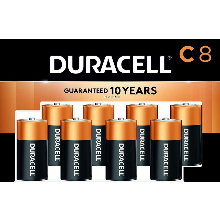Duracell 8-Pack C Alkaline Batteries
