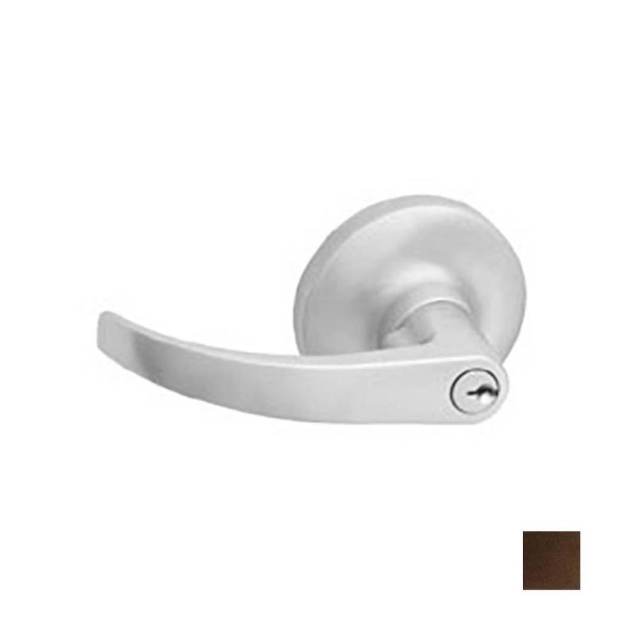Hager 3500 Series Archer Traditional Antique Bronze, Oiled Universal Keyed Entry Door Lever