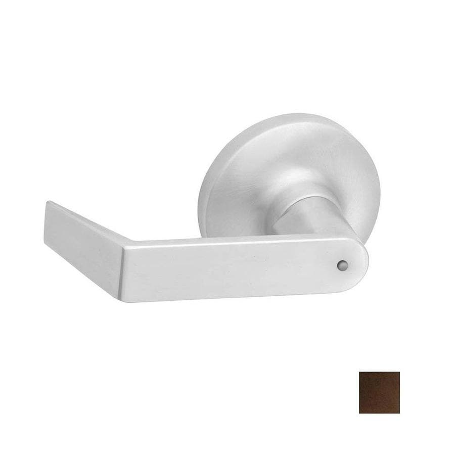 Hager 3400 Series Withnell Antique Bronze, OiledPush-Button Lock Privacy Door Lever