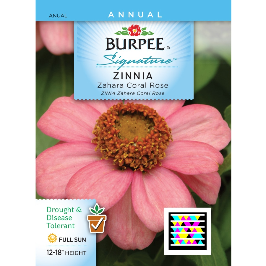 Burpee Zinnia Flower Seed Packet