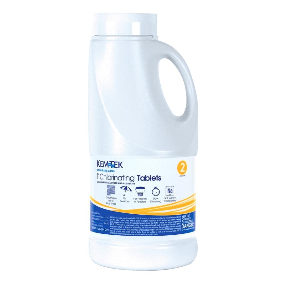 Kem-Tek 4-lb Bucket 1-in Pool Chlorine Tabs