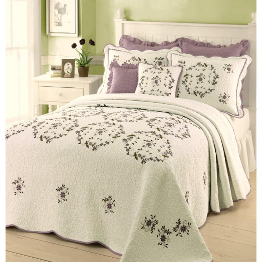 Modern Heirloom Gwen Embroidered 1-Piece Cream King Bedspread Set