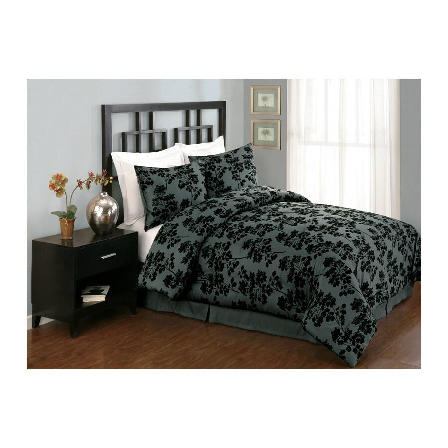 Modern Heirloom Milkweed 4-Piece King Comforter Set