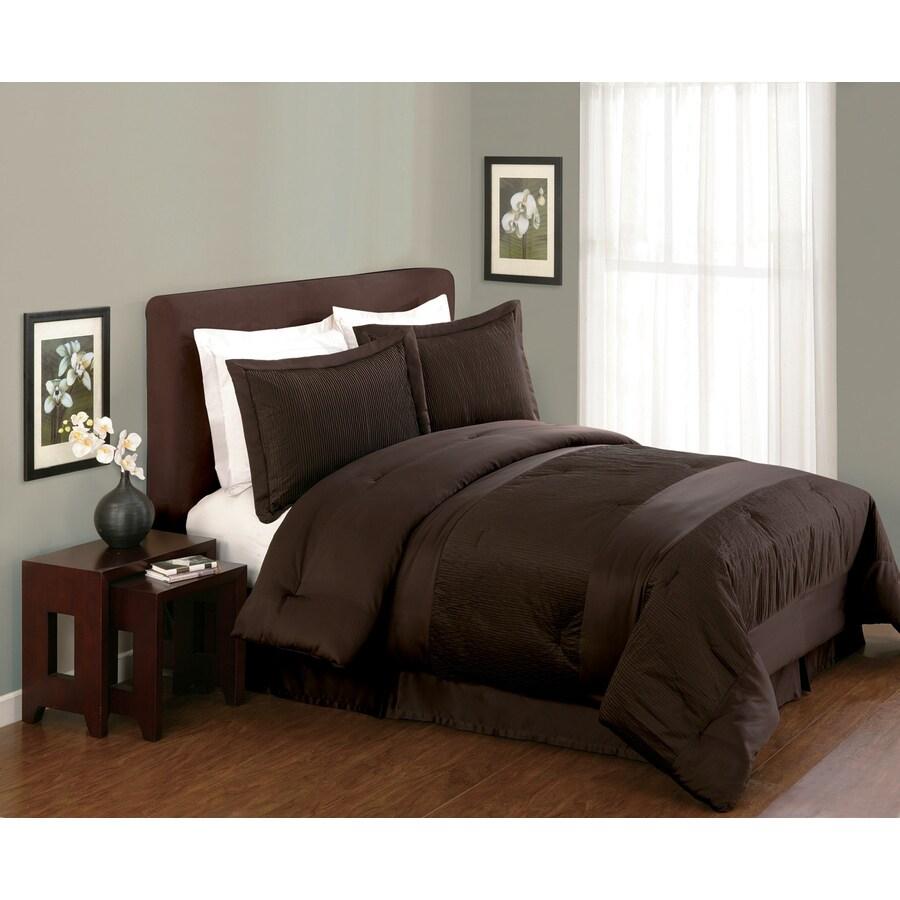 Modern Heirloom Compleatly 4-Piece Brown/Tan Queen Comforter Set