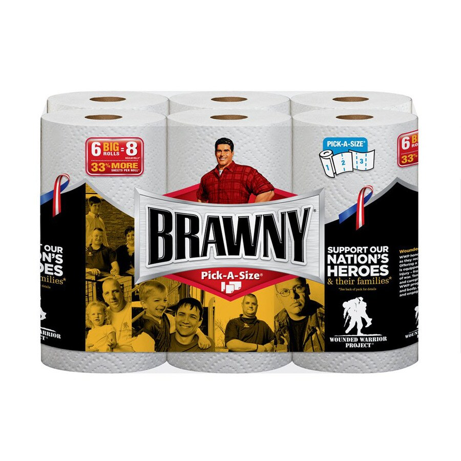 Brawny 6-Count Paper Towels