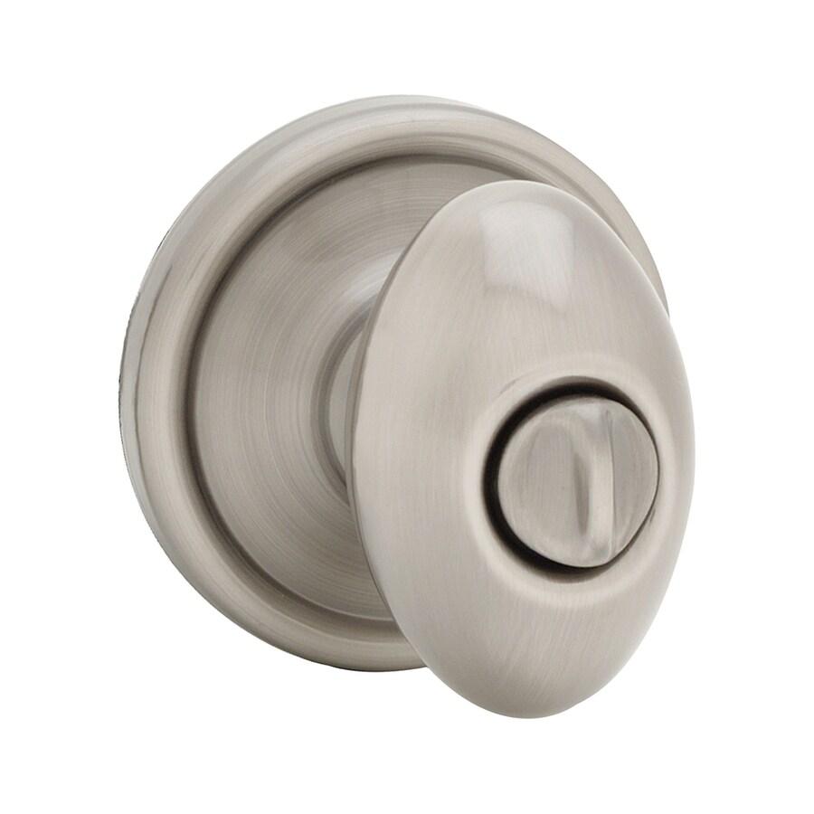 Kwikset Signature Laurel Antique Nickel Egg Turn-Lock Privacy Door Knob