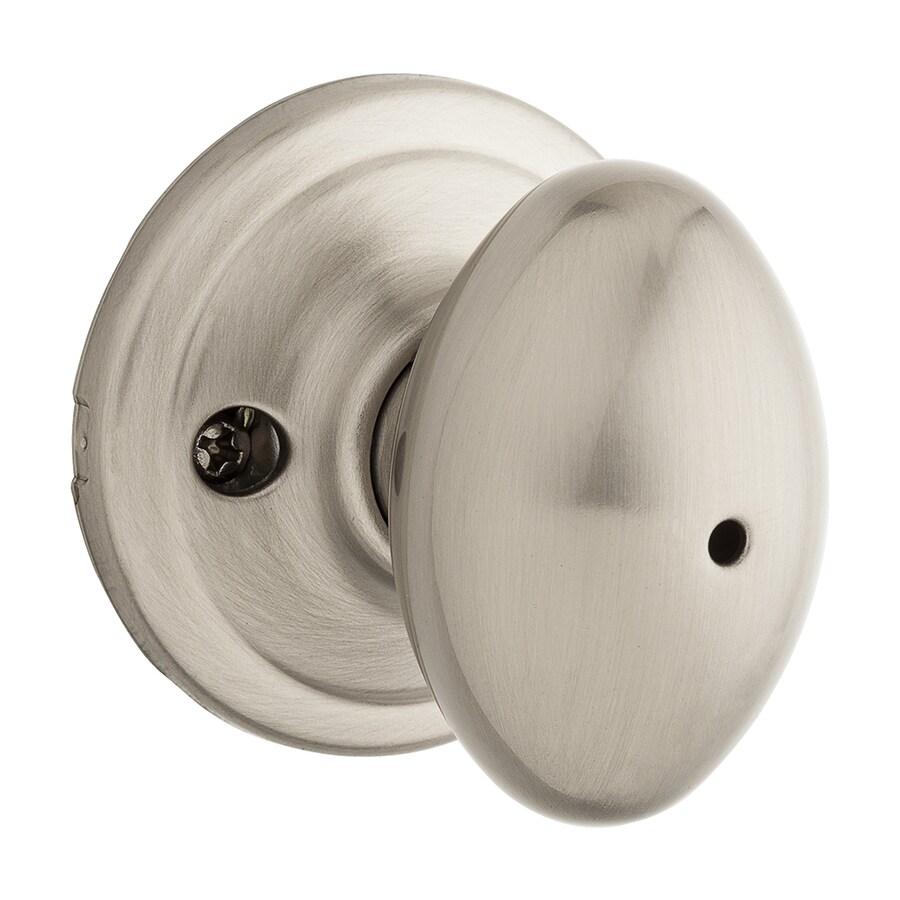 Kwikset Signature Laurel Satin Nickel Egg Turn Lock Privacy Door Knob