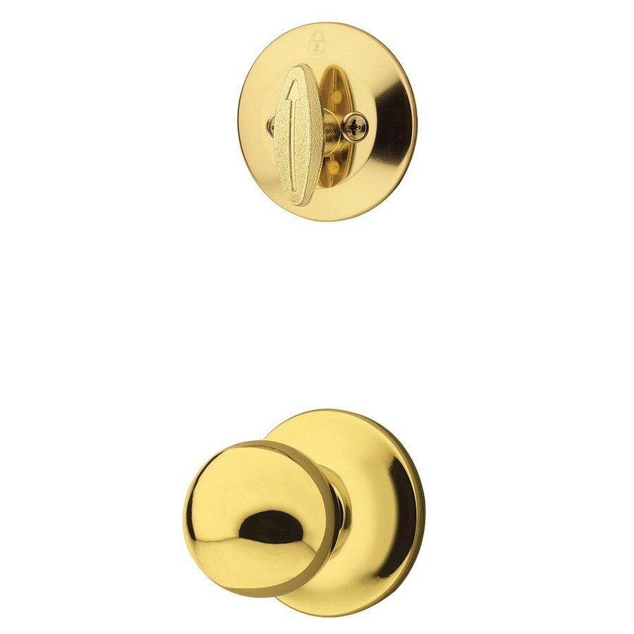 Kwikset Polo 1-3/4-in Polished Brass Single Cylinder Knob Entry Door Interior Handle