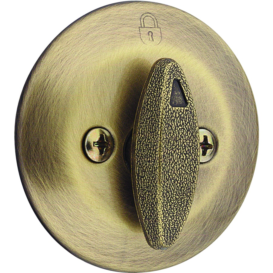 Kwikset 663 Antique Brass Deadbolt