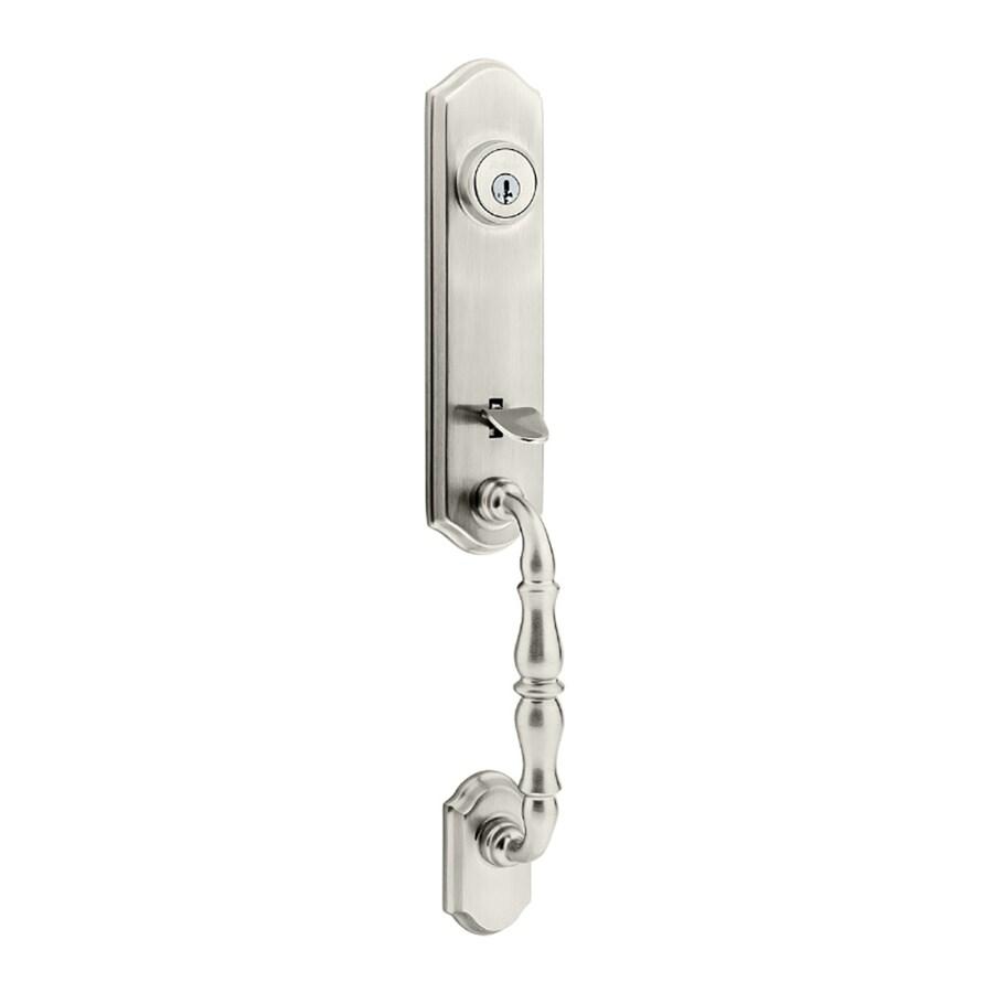 Kwikset Amherst Adjustable Satin Nickel Entry Door Exterior Handle