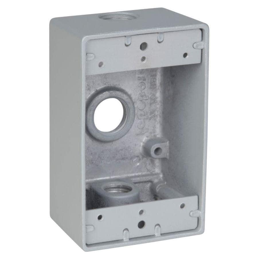 REDDOT 1-Gang Silver Metal Weatherproof Exterior/Interior New Work/Old Work Standard Rectangular Wall Electrical Box