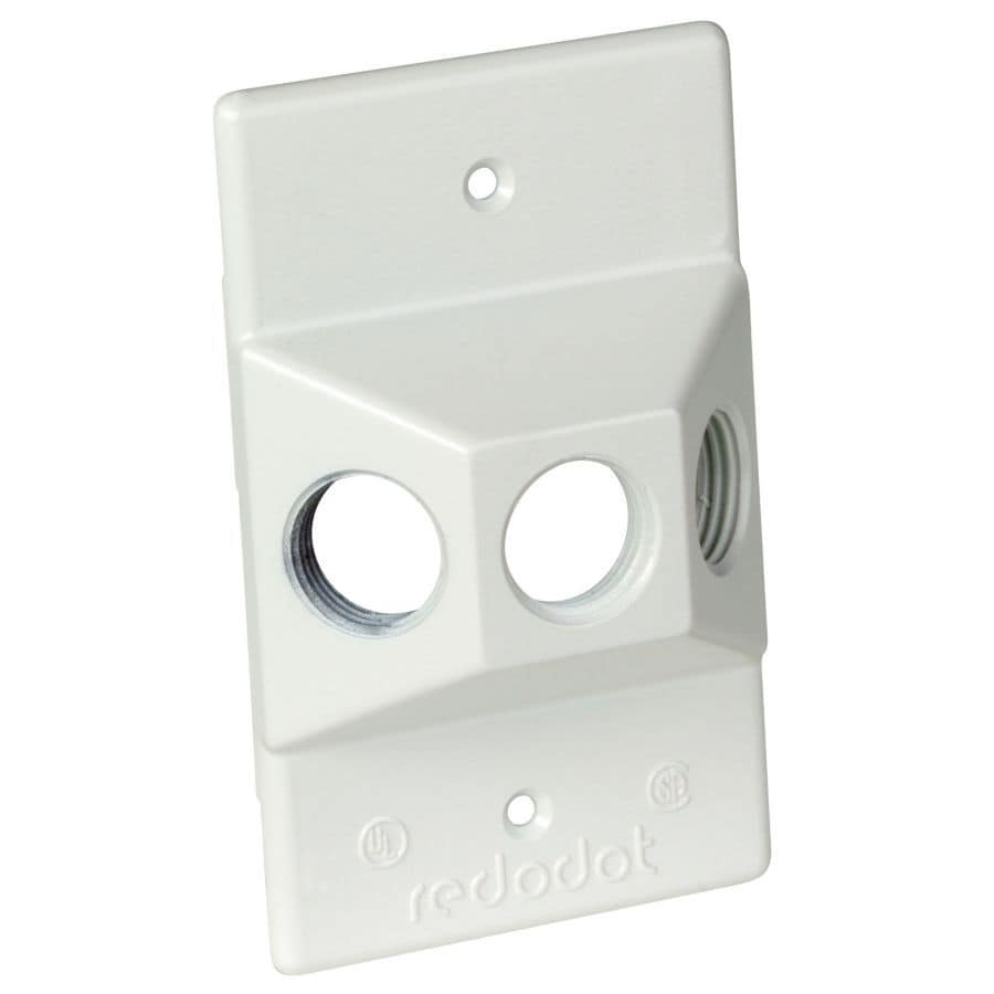 REDDOT 1-Gang Rectangle Metal Weatherproof Electrical Box Cover