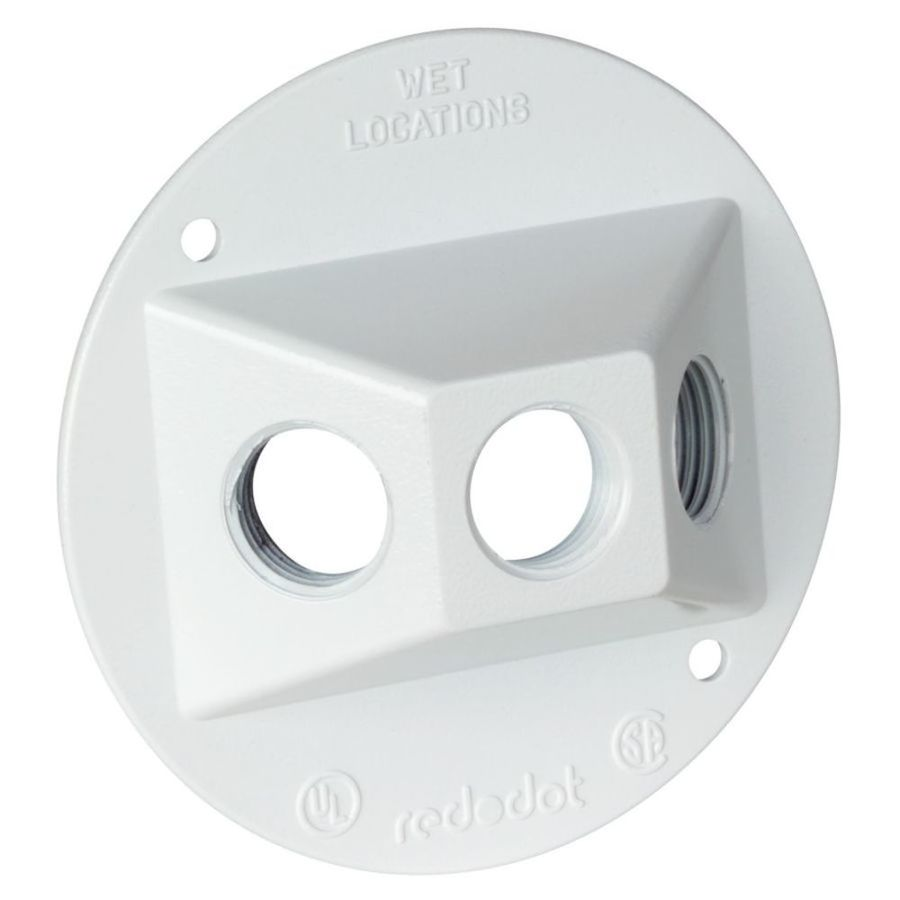 REDDOT Round Metal Weatherproof Electrical Box Cover