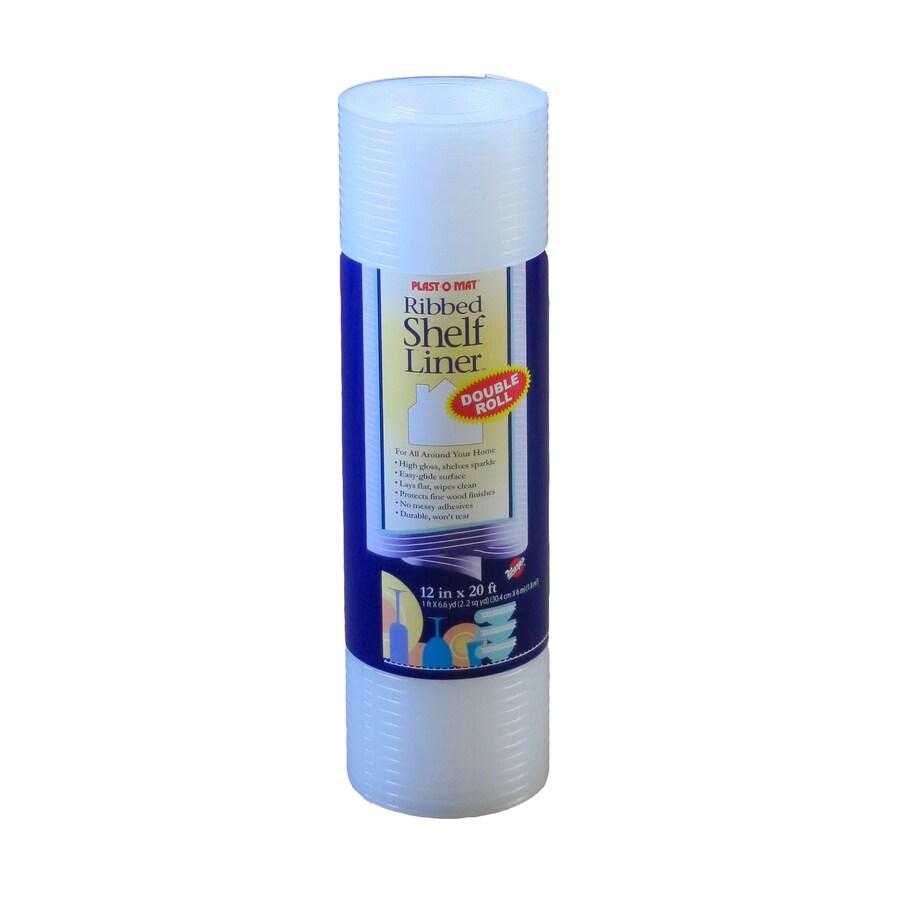 Plast-O-Mat 12-in x 20-ft Clear Shelf Liner