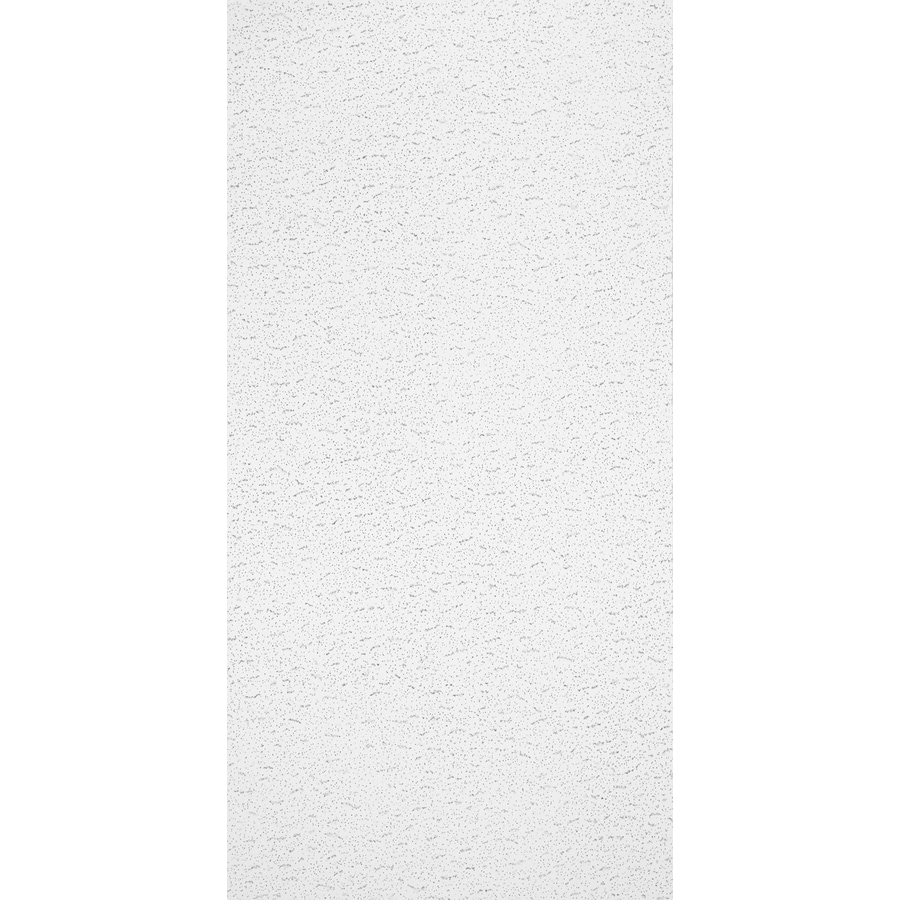 Armstrong Textured Contractor 10-Pack White Fissured 15/16-in Drop Acoustic Panel Ceiling Tiles (Common: 48-in x 24-in; Actual: 47.719-in x 23.719-in)