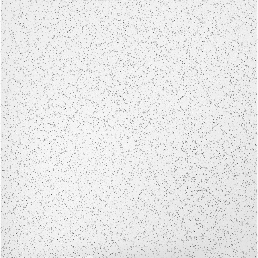 Armstrong Random Textured Contractor 16-Pack White Fissured 15/16-in Drop Acoustic Panel Ceiling Tiles (Common: 24-in x 24-in; Actual: 23.719-in x 23.719-in)