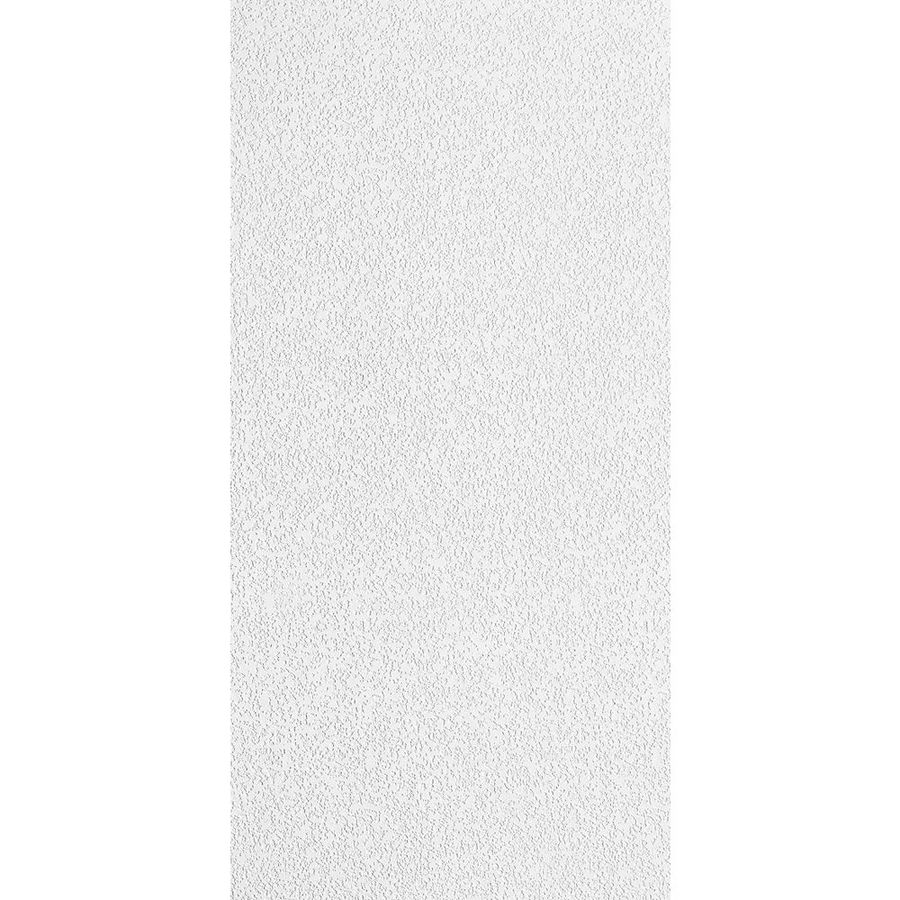 Armstrong Random Fissured Fiberglass Contractor 16-Pack White Textured 15/16-in Drop Acoustic Panel Ceiling Tiles (Common: 48-in x 24-in; Actual: 47.625-in x 23.625-in)