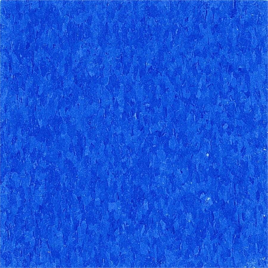 Armstrong 12-in x 12-in Marina Blue Speckle Pattern Commercial Vinyl Tile