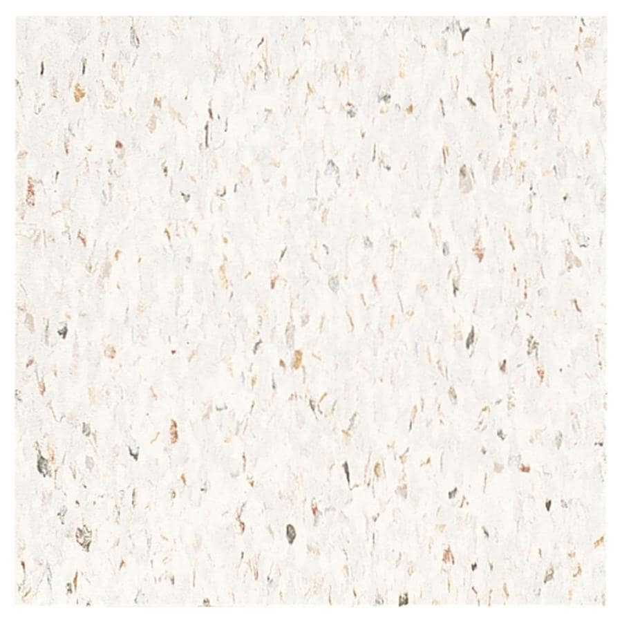 Armstrong 12-in x 12-in Jubilee White Chip Pattern Commercial Vinyl Tile