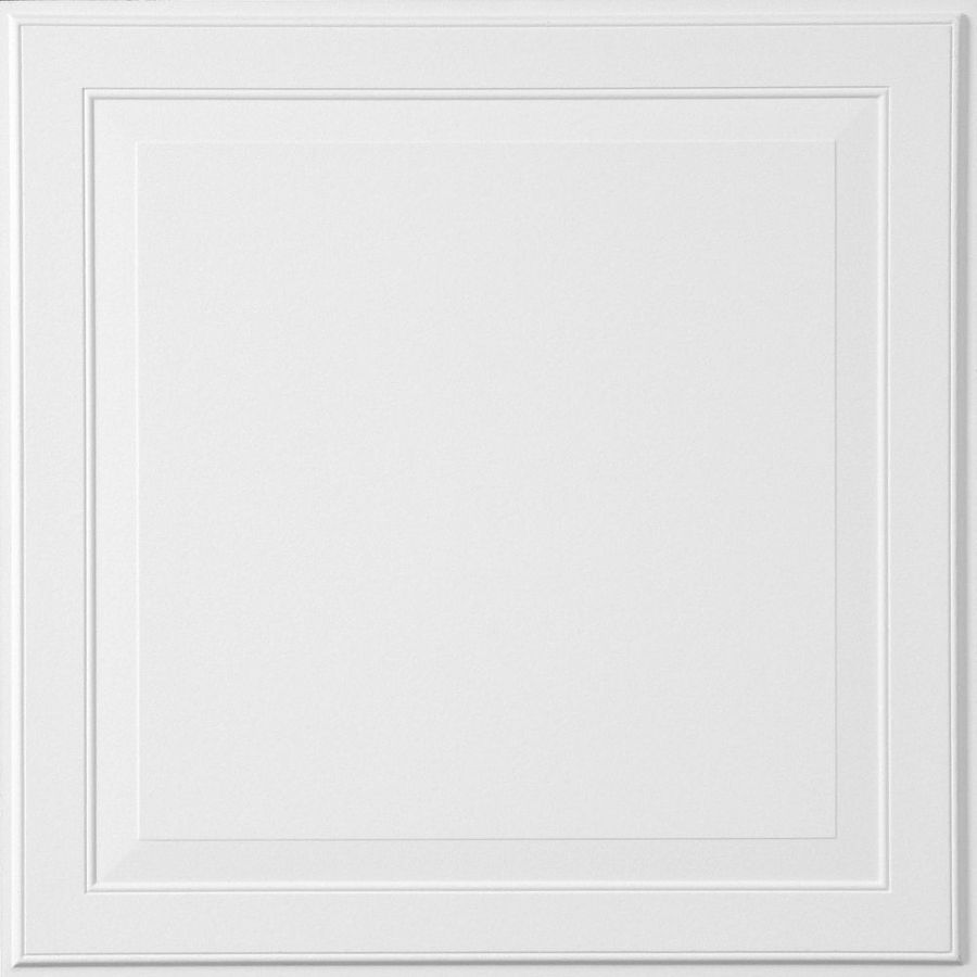Armstrong Single Raised Homestyle 6-Pack White Patterned 15/16-in Drop Acoustic Panel Ceiling Tiles (Common: 24-in x 24-in; Actual: 23.735-in x 23.735-in)