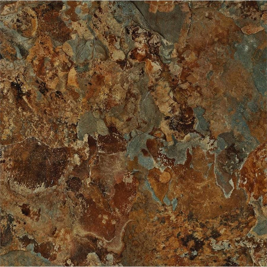 Armstrong Terraza 12-in x 12-in Patina Shale Peel-and-Stick Stone Residential Vinyl Tile