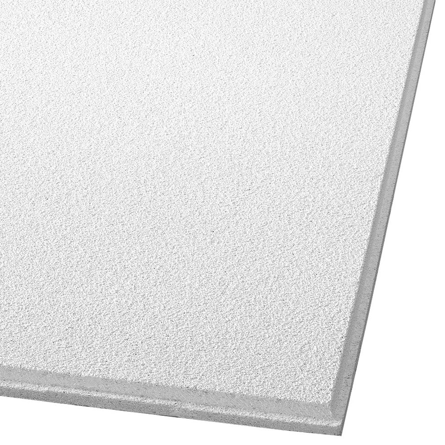 Armstrong Dune 16-Pack White Smooth 9/16-in Drop Acoustic Panel Ceiling Tiles (Common: 24-in x 24-in; Actual: 23.745-in x 23.745-in)
