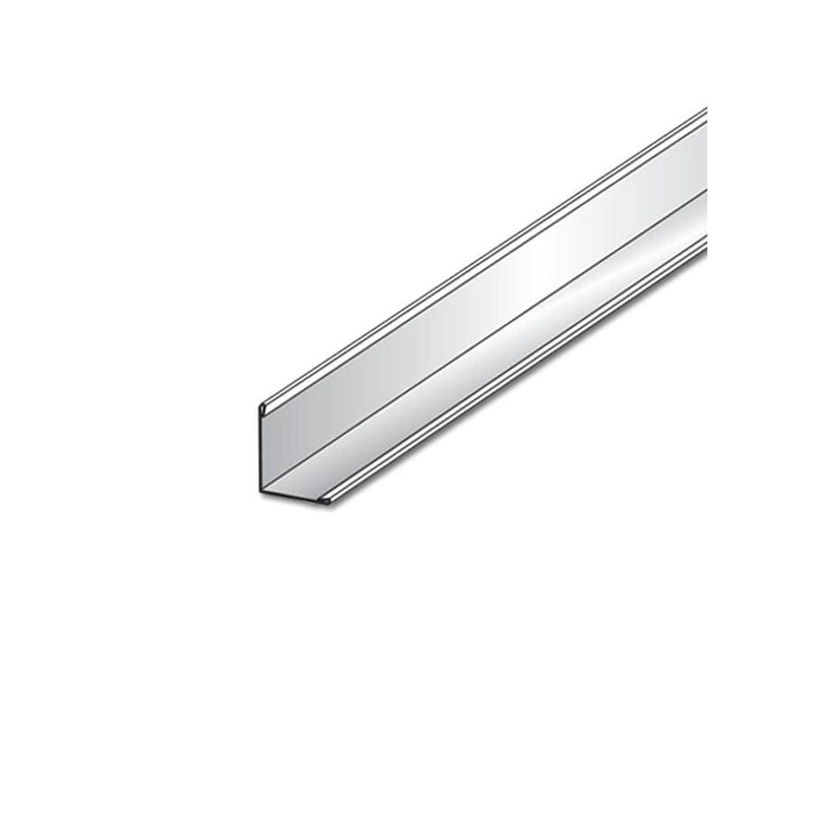 Armstrong Prelude 30-Pack Platinum Metal Smooth Wall Moulding Ceiling Grid Trim