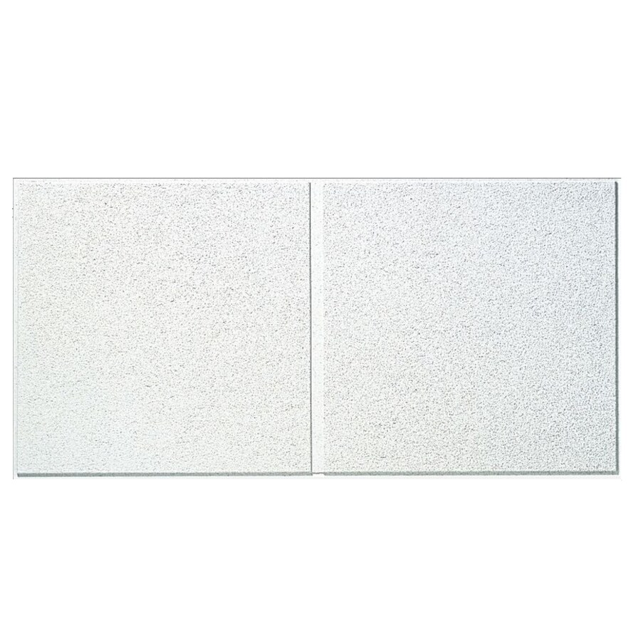 Armstrong Fine Fissured Second Look 8-Pack White Fissured 15/16-in Drop Acoustic Panel Ceiling Tiles (Common: 48-in x 24-in; Actual: 47.75-in x 23.75-in)