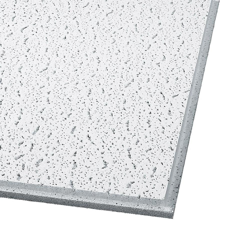 Armstrong Fissured 12-Pack White Fissured 15/16-in Drop Acoustic Panel Ceiling Tiles (Common: 24-in x 24-in; Actual: 23.75-in x 23.75-in)