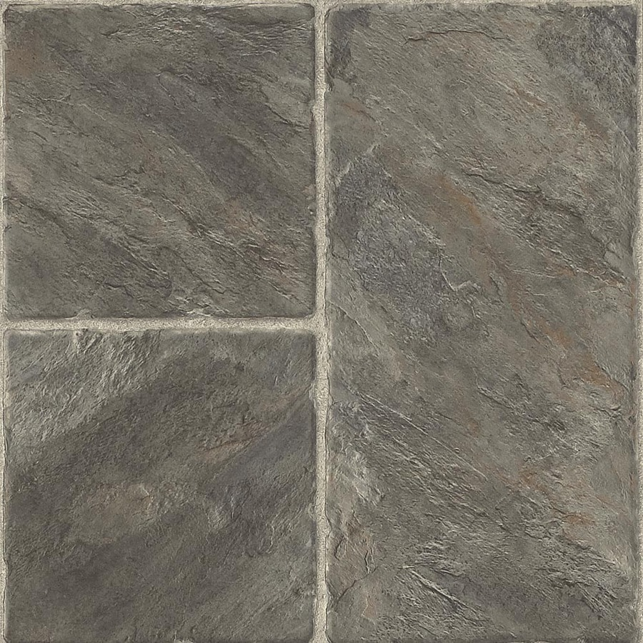 Armstrong Stones and Ceramics 15.94-in W x 3.98-ft L Castilian Block Pizarra Embossed Laminate Tile and Stone Planks