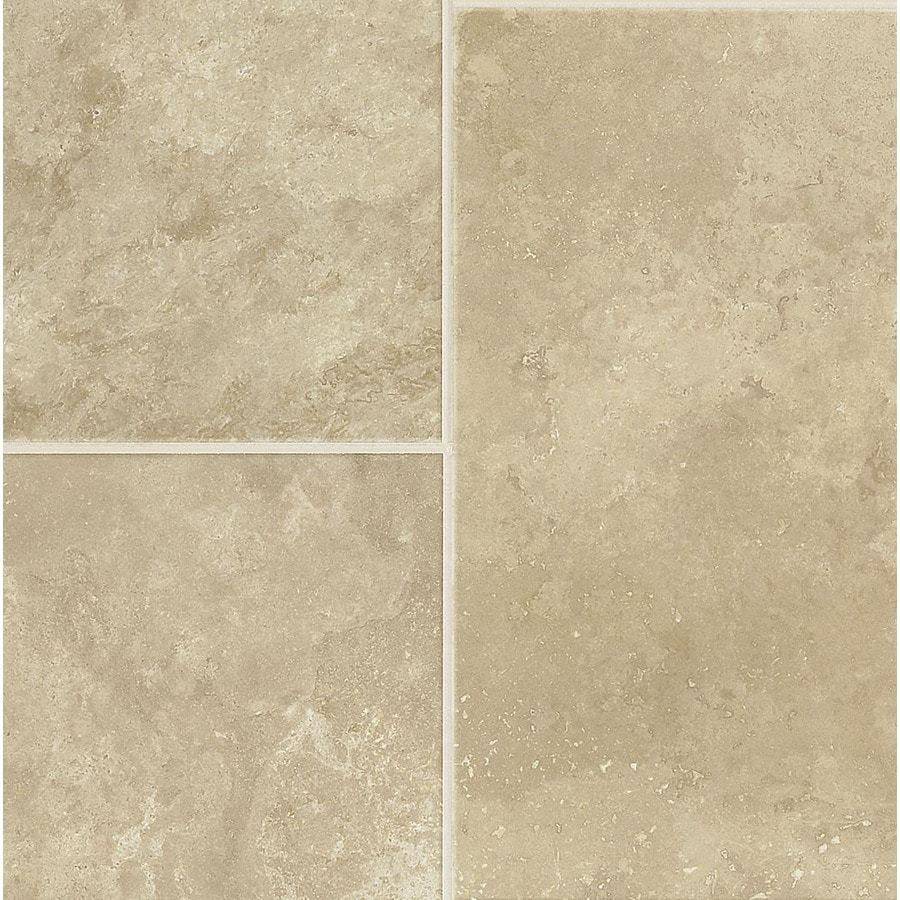 Armstrong Stones and Ceramics 15.94-in W x 3.98-ft L Linen Sand Embossed Laminate Tile and Stone Planks