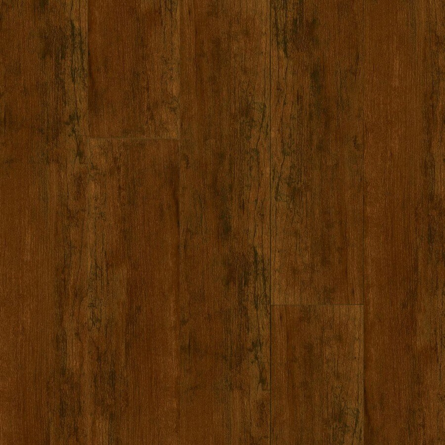 Armstrong High Gloss 4.92-in W x 3.98-ft L Aged Cherry Wood Plank Laminate Flooring