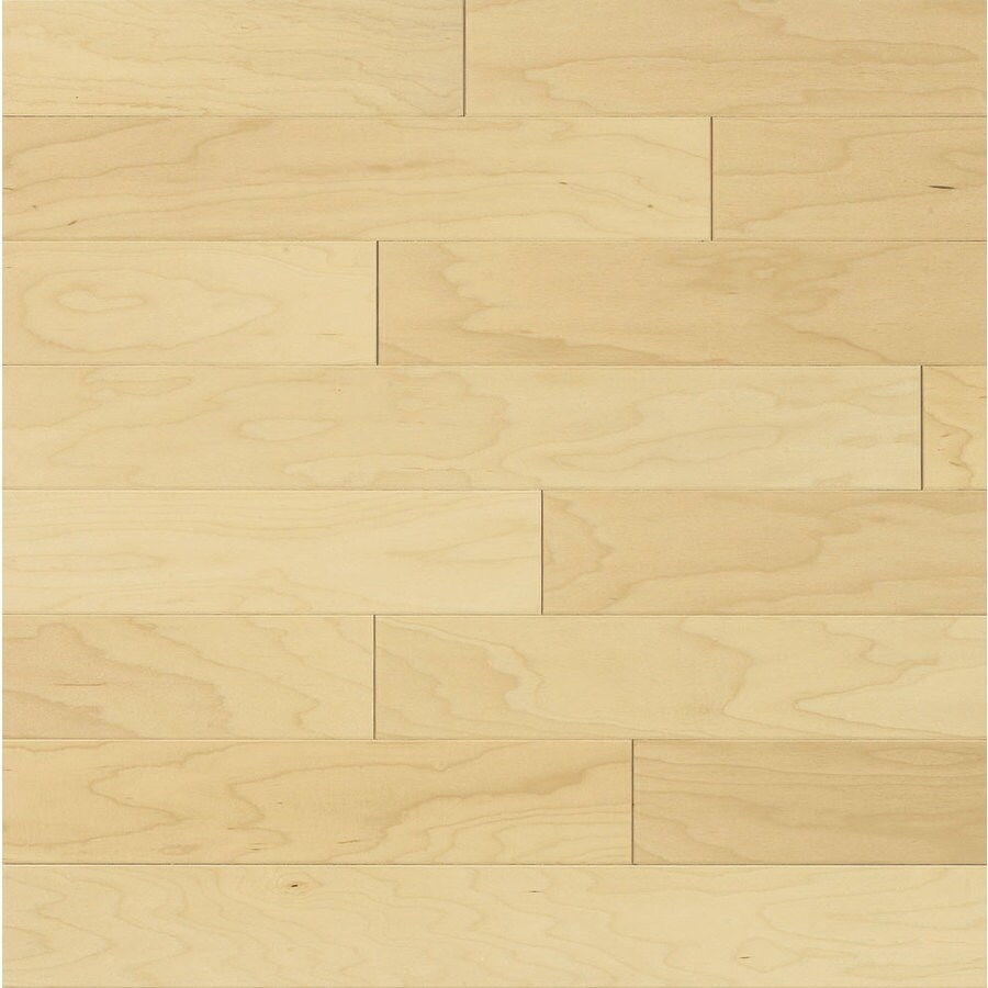 Shop bruce locking smooth face natural maple hardwood for Maple flooring