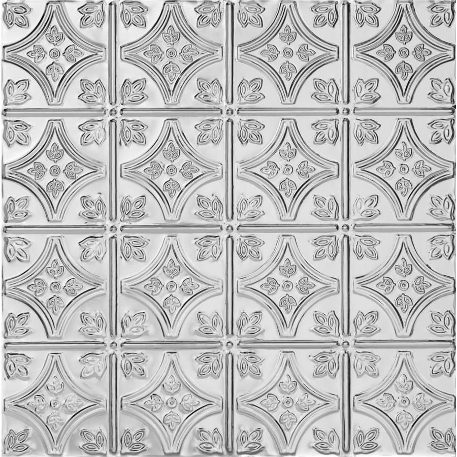 Armstrong Metallaire Chrome Patterned 15/16-in Drop Panel Ceiling Tiles (Common: 24-in x 24-in; Actual: 23.75-in x 23.75-in)