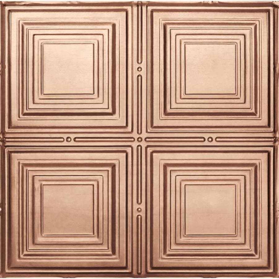 Armstrong Metallaire Copper Patterned 15/16-in Drop Panel Ceiling Tiles (Common: 24-in x 24-in; Actual: 23.75-in x 23.75-in)