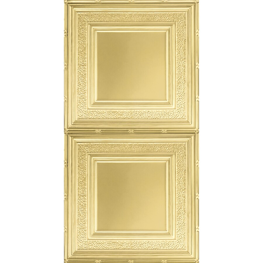 Armstrong Metallaire Brass Patterned Surface-Mount Panel Ceiling Tiles (Common: 48-in x 24-in; Actual: 48.5-in x 24.5-in)